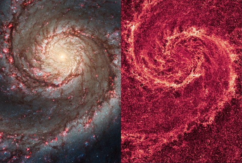 The Blood-red Chaos at the Heart of the Whirlpool Galaxy