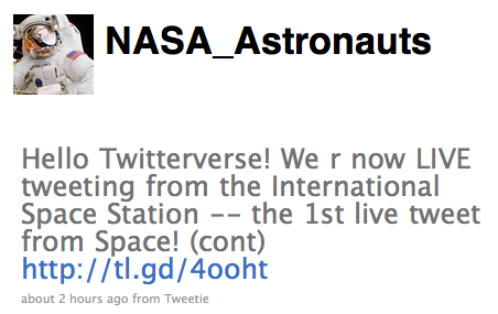 ISS Astronauts Get Ultimate Wireless Network, Send First Tweet From Space