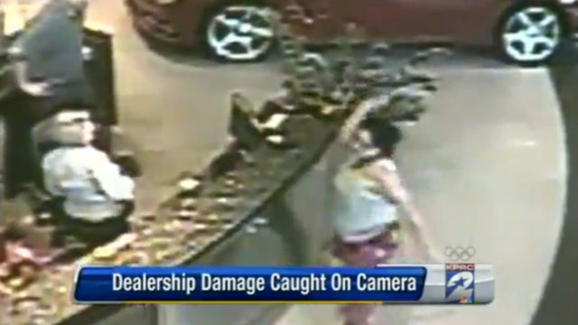 Irate Woman In Pajamas Trashes Alex Rodriguez's Mercedes Dealership