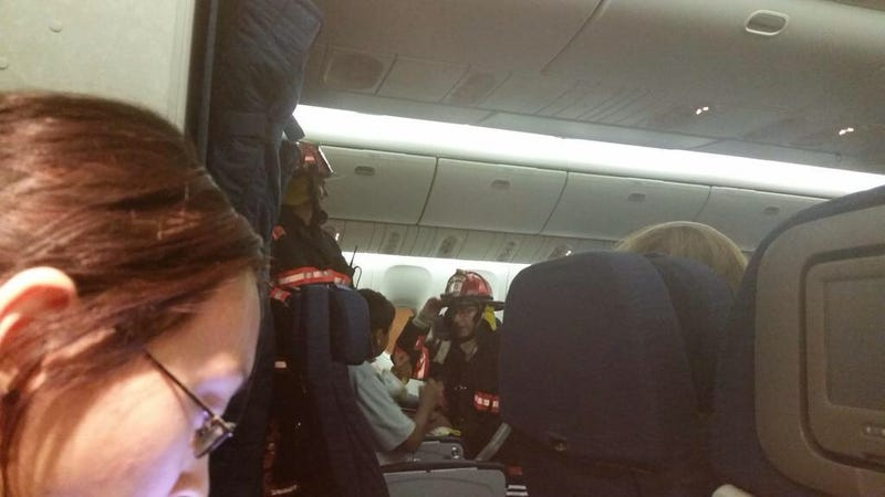 United Flight Diverted For Galley Fire