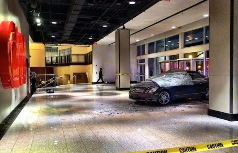 Driver Arrested After Benz Smashes Into CNN Headquarters
