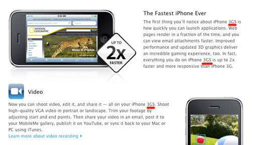 Sanity Wins Out, Apple Drops Space From 3GS