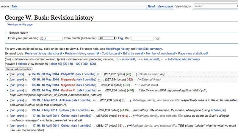 Here Are the 100 Wikipedia Articles that Have Been Edited the Most