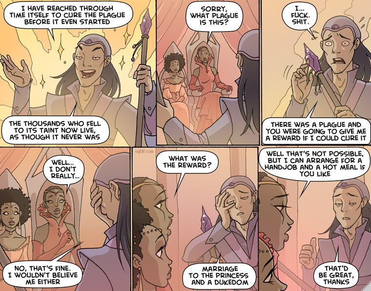 OGLAF on the trickiness of time travel...
