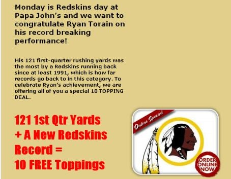 Even Papa John's Has Given Up On The Redskins