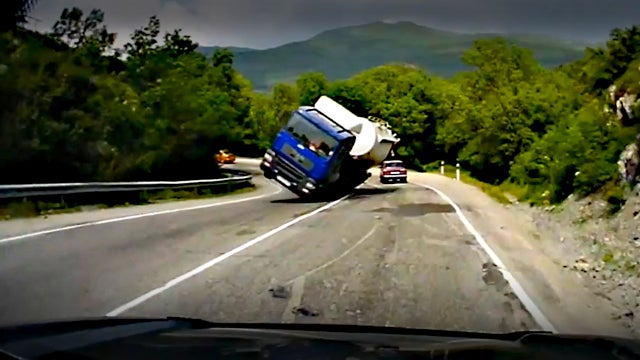 The Ten Luckiest Automotive Saves Caught On Video