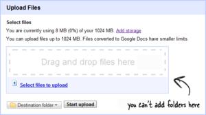 Easily Upload Desktop Folders to Google Docs