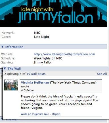 Jimmy Fallon: 'NYT' TV Critic Virginia Heffernan Now Owns You As A Pet!