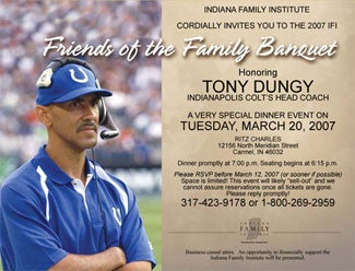 Tony Dungy's Rabid Fan Base