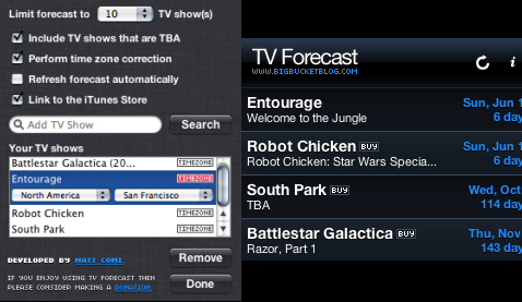 Keep an eye on your favorite TV shows with TV Forecast