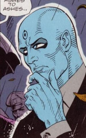 Exploring the Literary Implications of Dr. Manhattan's Glowing Blue Junk
