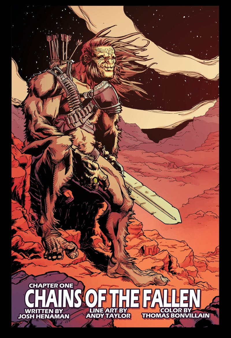 Bigfoot with a Sword on Mars = Best Comic Book Premise This Month