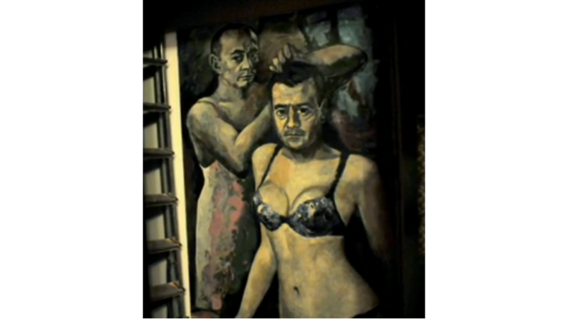 Here's the Painting of Putin in Lingerie Seized by Russian Authorities