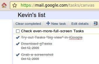View Your Google Tasks in Actual Full-Screen