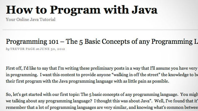 How to Program With Java Teaches You the Basic Concepts of Programming (and Java, Of Course)