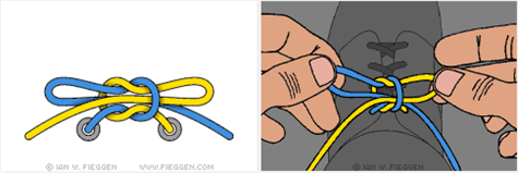 Learn the world's fastest shoelace knot