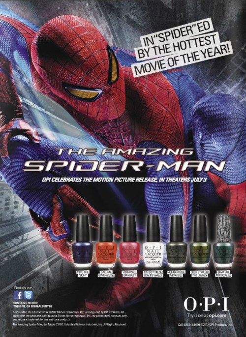 "Amazing Spider-Man releases ""My Boyfriend Scales Walls"" nail polish color. Oof."