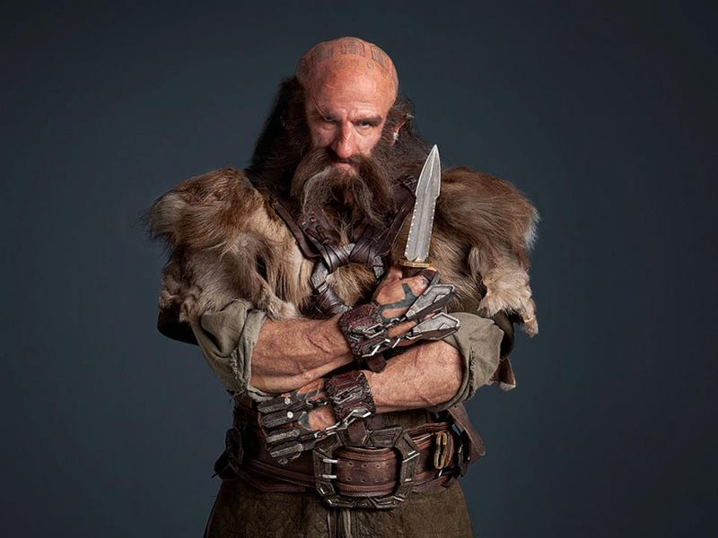 Hobbit headshots show off the many braided beards of Middle Earth's dwarves