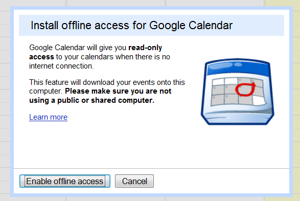 Offline Google Calendar Goes Live for Everyone