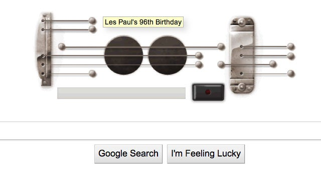 Google Honors Les Paul With A Recordable Guitar Doodle
