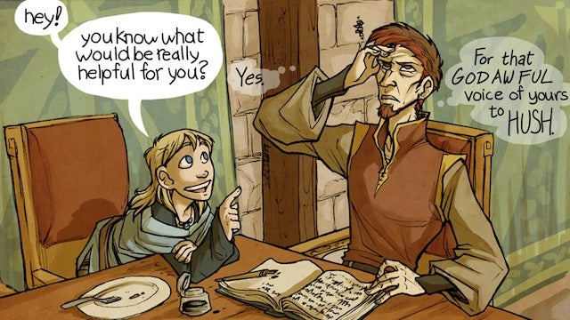 A deaf girl leads a quest to right a spell gone wrong in the webcomic Runewriters