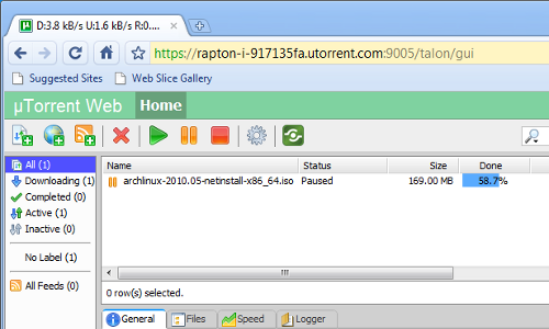 uTorrent Falcon Remote Controls Your BitTorrent Downloads from Any Browser