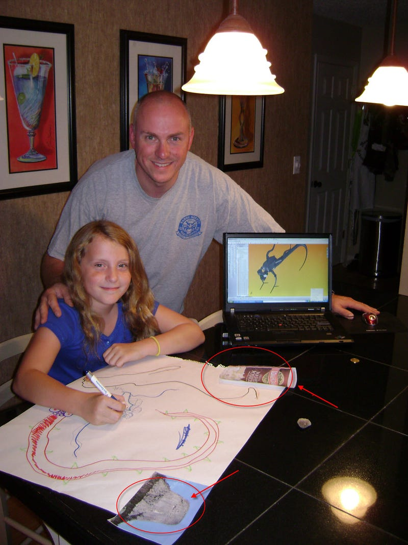 Father-daughter team use a 3D printer to create awesome nanobot art