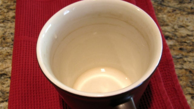 Clean Stains Out of Your Coffee Mug with Baking Soda