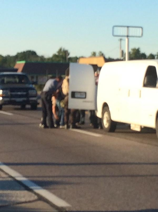 police rounding up journalists in Ferguson, MO