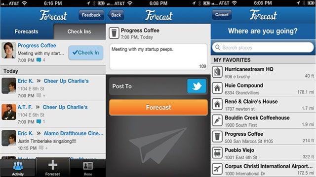 Forecast App Broadcasts Future Plans to Foursquare Friends