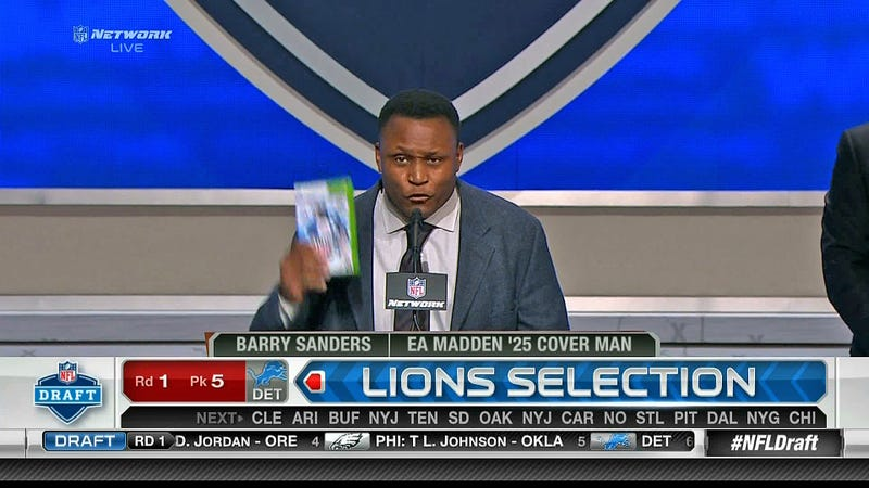 A Frumpily Attired Barry Sanders Demands You Buy His Video Game