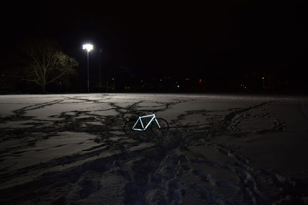 Turn Your Bike Into a Glowing Beacon With Reflective Street Sign Paint