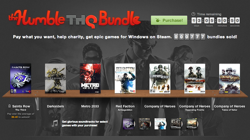 Who was the Biggest Beneficiary of THQ's $5 Million Humble Bundle?