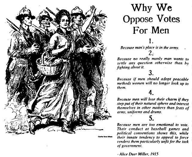 Suffragettes had a sense of humour!