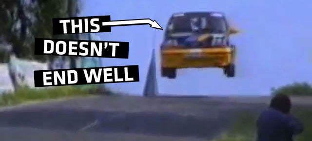 I Can't Stop Watching These Crashing Rally Hatchbacks
