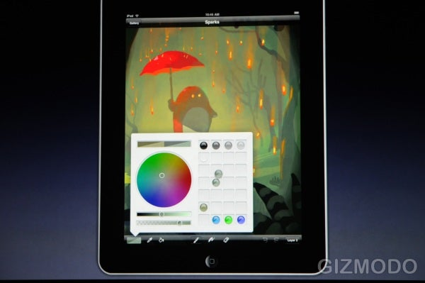 iPad's Brushes App: Like Paint, but With Multitouch