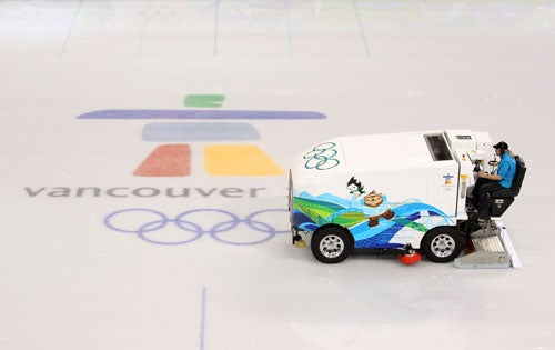 Winter Olympics Electric Zamboni FAIL!