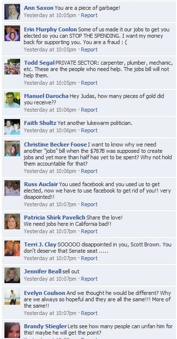 Which Enraged Scott Brown Facebook Fan Comment Is Your Favorite?