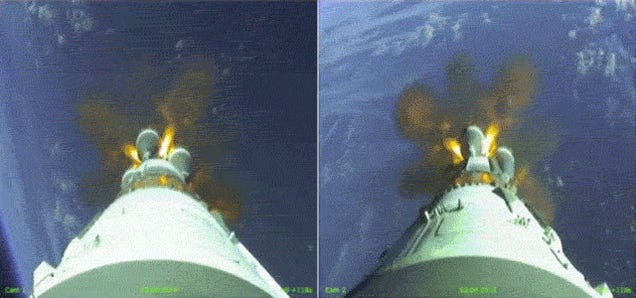 I have never seen a Soyuz launch from this angle