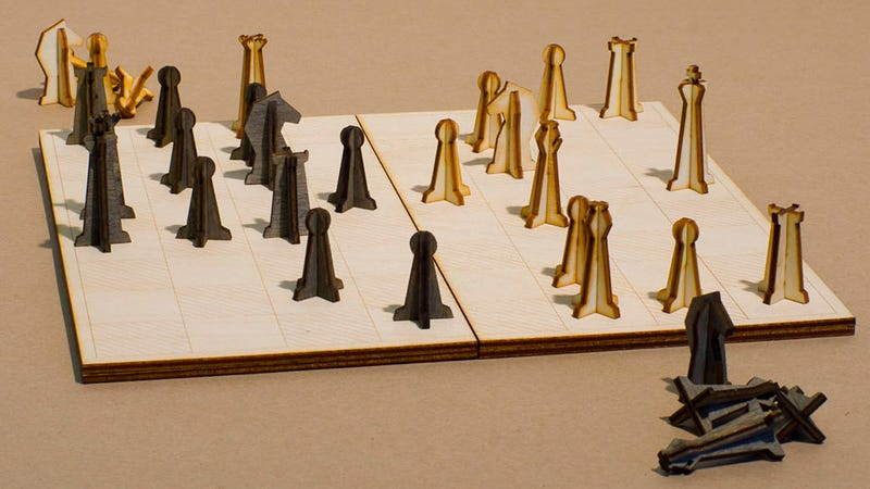 You'll Always Have Room in Your Bag for This Laser Cut Chess Set
