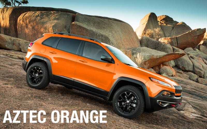 2014 Jeep Cherokee: An explosion of hip off-road colors