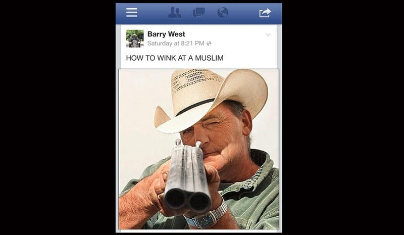 "Local Official Defends ""Humorous"" Facebook Post About Shooting Muslims"