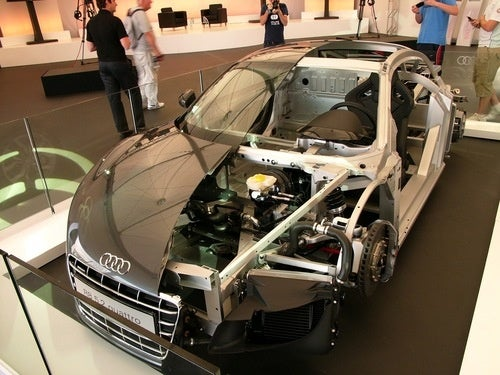 The Audi R8 V10, Cut in Half