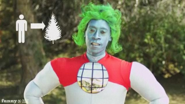 Watch Captain Planet go insane, kill everyone