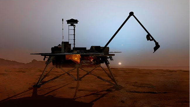 Mars Lander Can Move Arm Now, Probably Just Slept On It Wrong