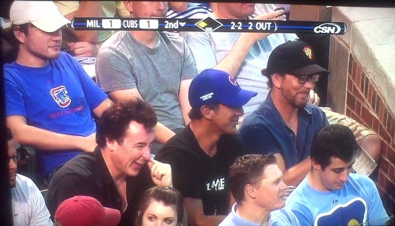 John Cusack, Chris Chelios and Eddie Vedder Walk Into A Ballpark...