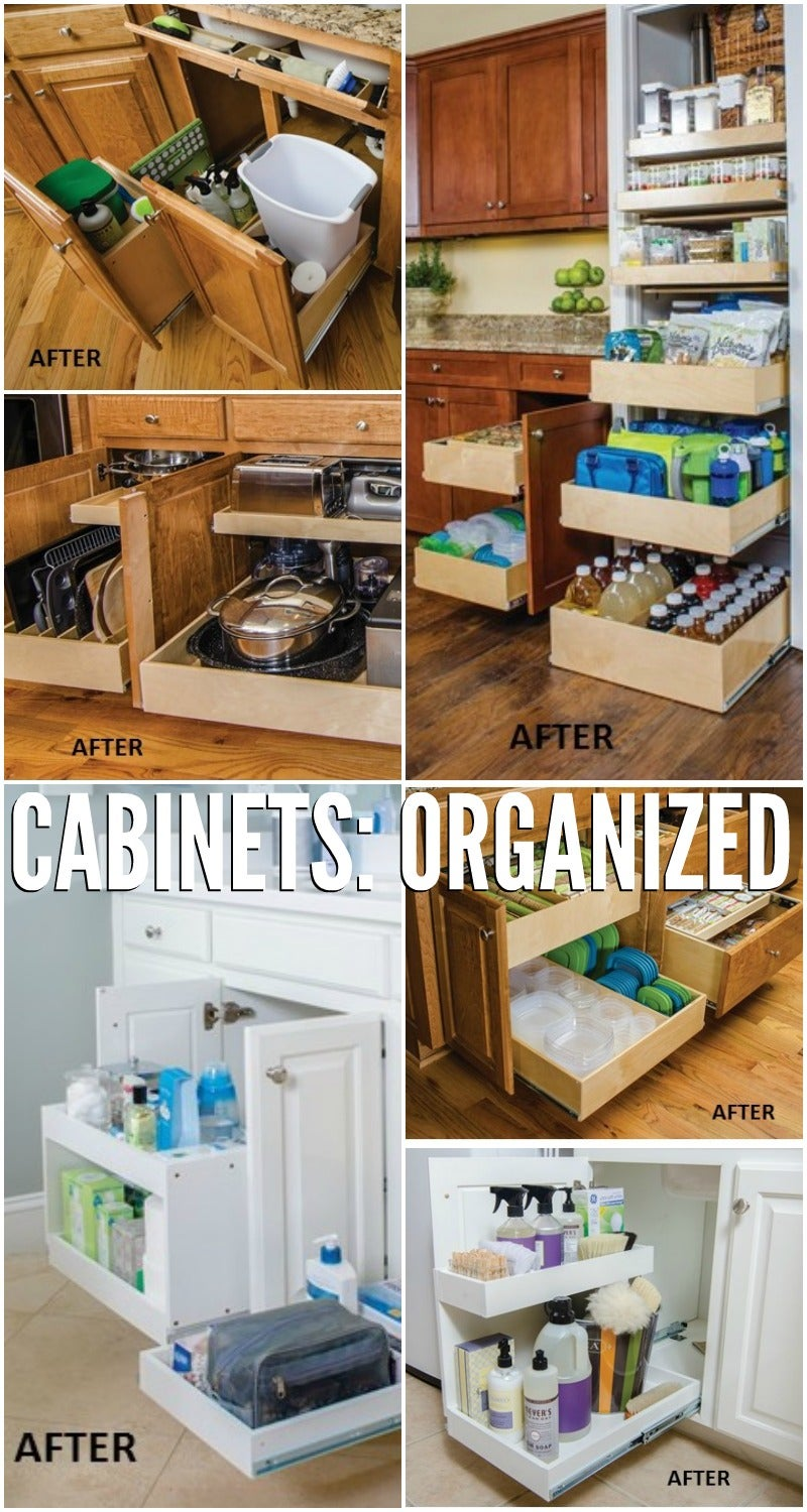 Build a slide out cabinet drawer in about an hour for Premade kitchen drawers