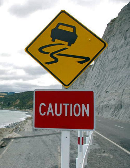Caution: Inexplicable Skid Marks Ahead