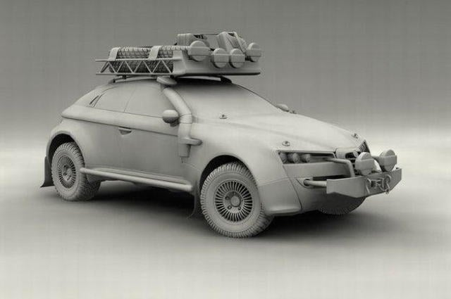 Alfa Romeo Brera stars in a scale-model Dakar fantasy