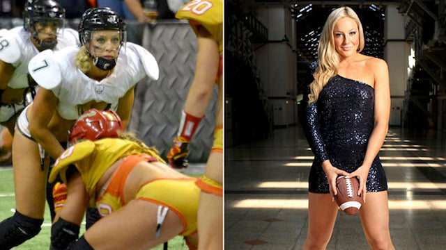 Lingerie Football Star Chloe Butler May Break Hearts, Definitely Breaks Arms